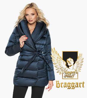 Воздуховик Braggart Angel's Fluff 31064 | Зимняя женская куртка сапфировая, фото 2
