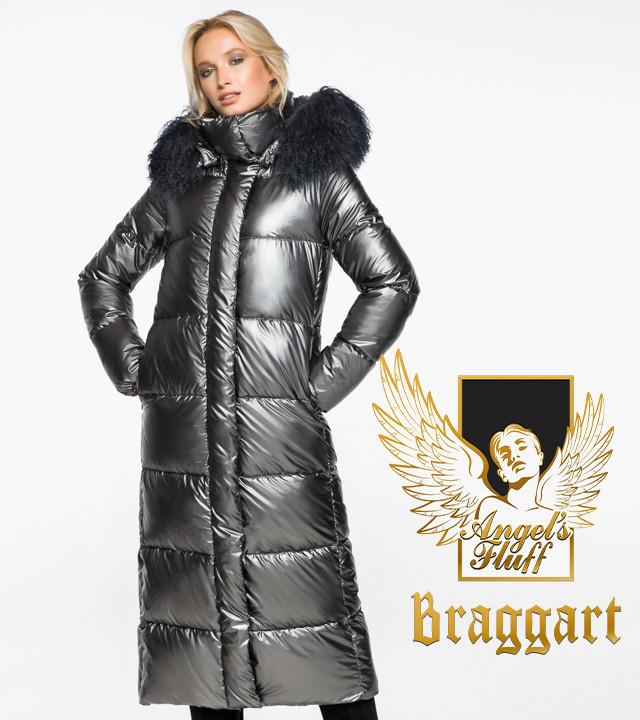Воздуховик Braggart Angel's Fluff 31072   Теплая женская куртка темное серебро