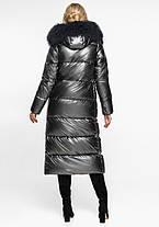 Воздуховик Braggart Angel's Fluff 31072   Теплая женская куртка темное серебро, фото 3