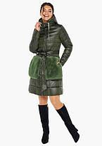 Воздуховик Braggart Angel's Fluff 31845 | Осеннее-весенняя женская куртка цвет темный хаки, фото 2