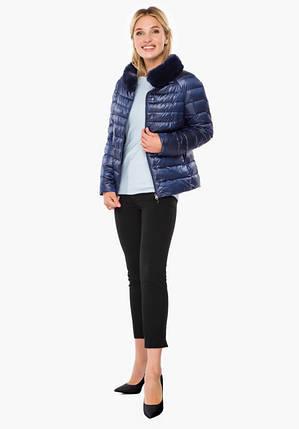 Воздуховик Braggart Angel's Fluff 40267 | Осенне-весенняя женская короткая куртка сапфировая, фото 2