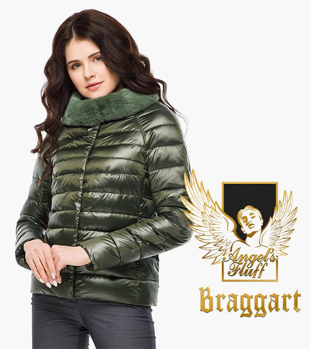 Воздуховик Braggart Angel's Fluff 40267   Женская куртка осень-весна цвет темный хаки