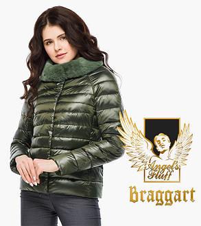 Воздуховик Braggart Angel's Fluff 40267   Женская куртка осень-весна цвет темный хаки, фото 2