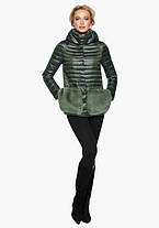 Воздуховик Braggart Angel's Fluff 15115   Куртка женская осенне-весенняя цвет темный хаки, фото 2