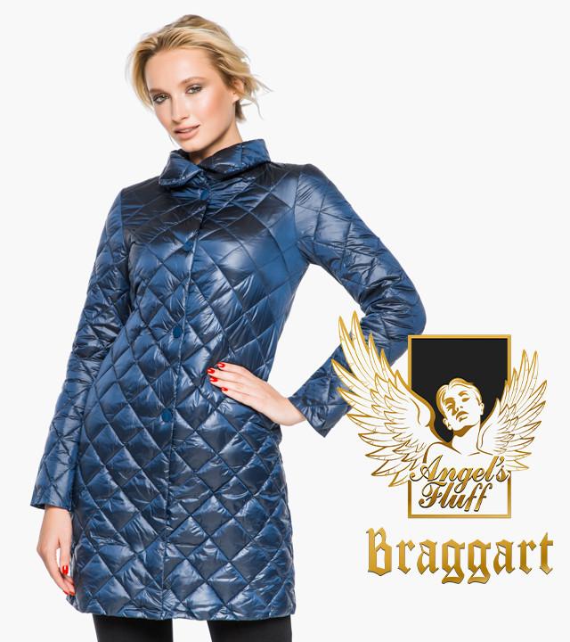 Воздуховик Braggart Angel's Fluff 20856 | Куртка осенне-весенняя женская темная лазурь
