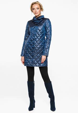 Воздуховик Braggart Angel's Fluff 20856 | Куртка осенне-весенняя женская темная лазурь, фото 2