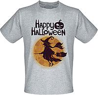Футболка Happy Halloween (меланж)