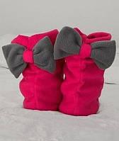 Тапочки сапожки Бантики, флисовые тапочки для девочек, для всей семьи. Опт, розница. Украина.