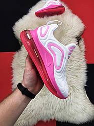 Женские кроссовки Nike  Air Max 720 White Pink (бело-розовые)