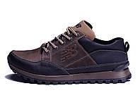 Мужские кожаные кроссовки New Balance Clasic Brown (реплика)
