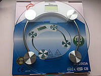 Весы ACS 2003A Круглые + датчик температуры, Электронные напольные весы, Круглые весы на батарейка