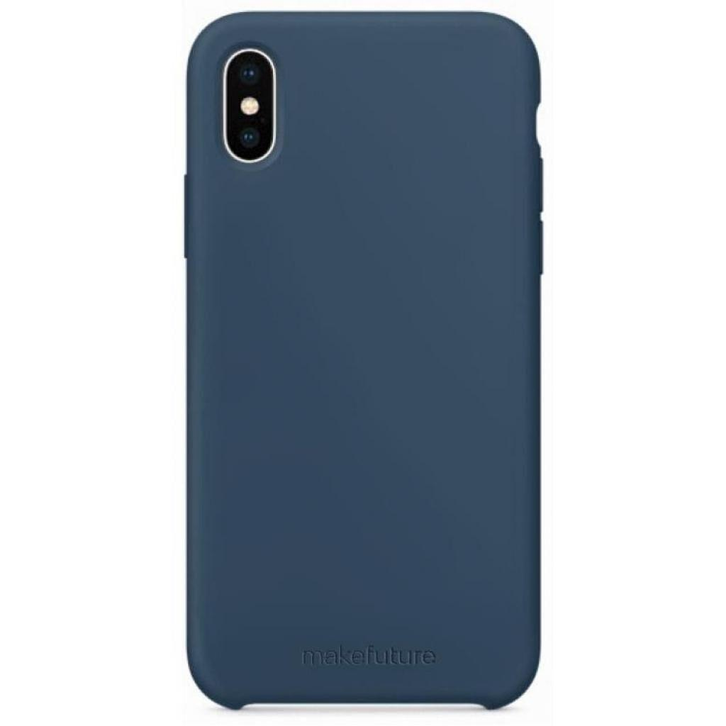 Чехол для моб. телефона MakeFuture Silicone Case Apple iPhone X Blue (MCS-AIXBL)