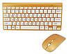 Беспроводные клавиатура и мышь RIAS ZYG-902 Gold (4_753118293)
