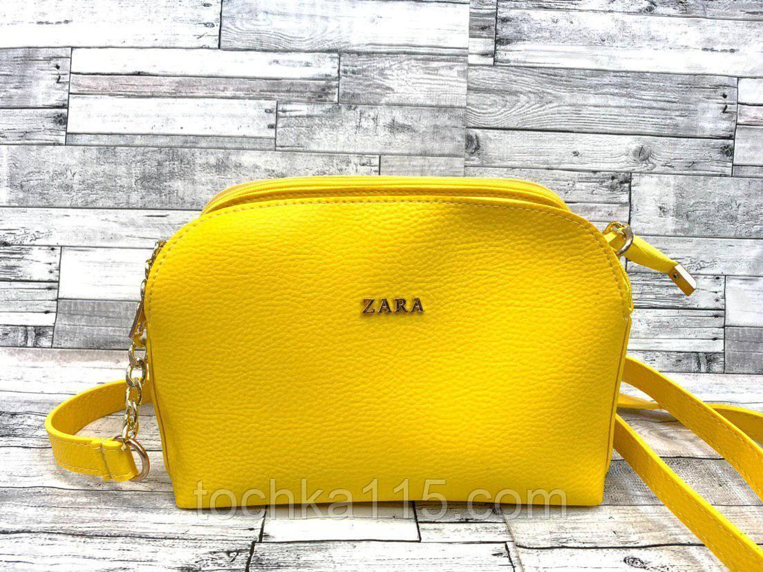 Женский клатч сумка Zara (желтый)