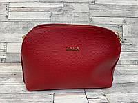 Женский клатч сумка Zara (красный), фото 1