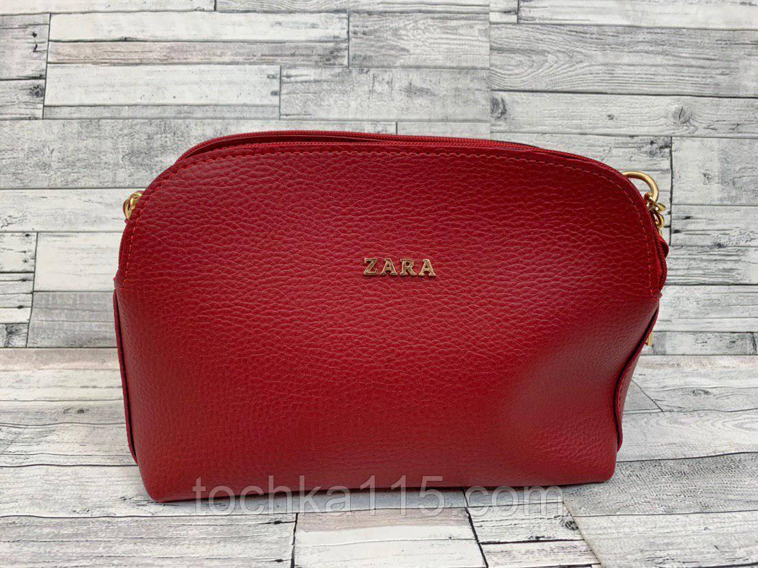 Женский клатч сумка Zara (красный)