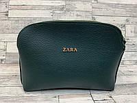 Женский клатч сумка Zara (бутылочный), фото 1