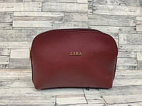 Женский клатч сумка Zara (бордо), фото 1