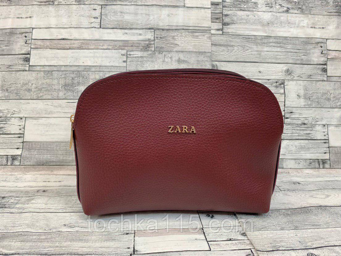 Женский клатч сумка Zara (бордо)