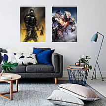 "Постер ""The Devastator"". Destiny 2. Titan class. Размер 60x43см (A2). Глянцевая бумага, фото 3"