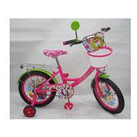 Велосипед ЧУДО ОСТРОВ детский 16д. LE-2-02B  роз,карет амер,корз,прис кол,в кор-ке,68,5-41-16см