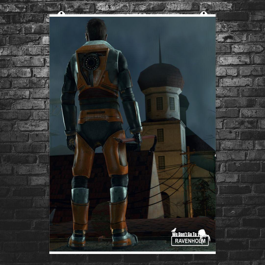 """Постер """"Half-Life. Ravenholm. Гордон Фриман"""". Размер 60x43см (A2). Глянцевая бумага"""
