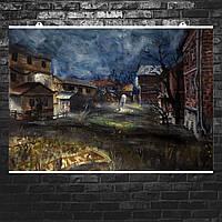 """Постер """"Half-Life. Ravenholm"""", репродукция картины маслом. Размер 60x43см (A2). Глянцевая бумага"""