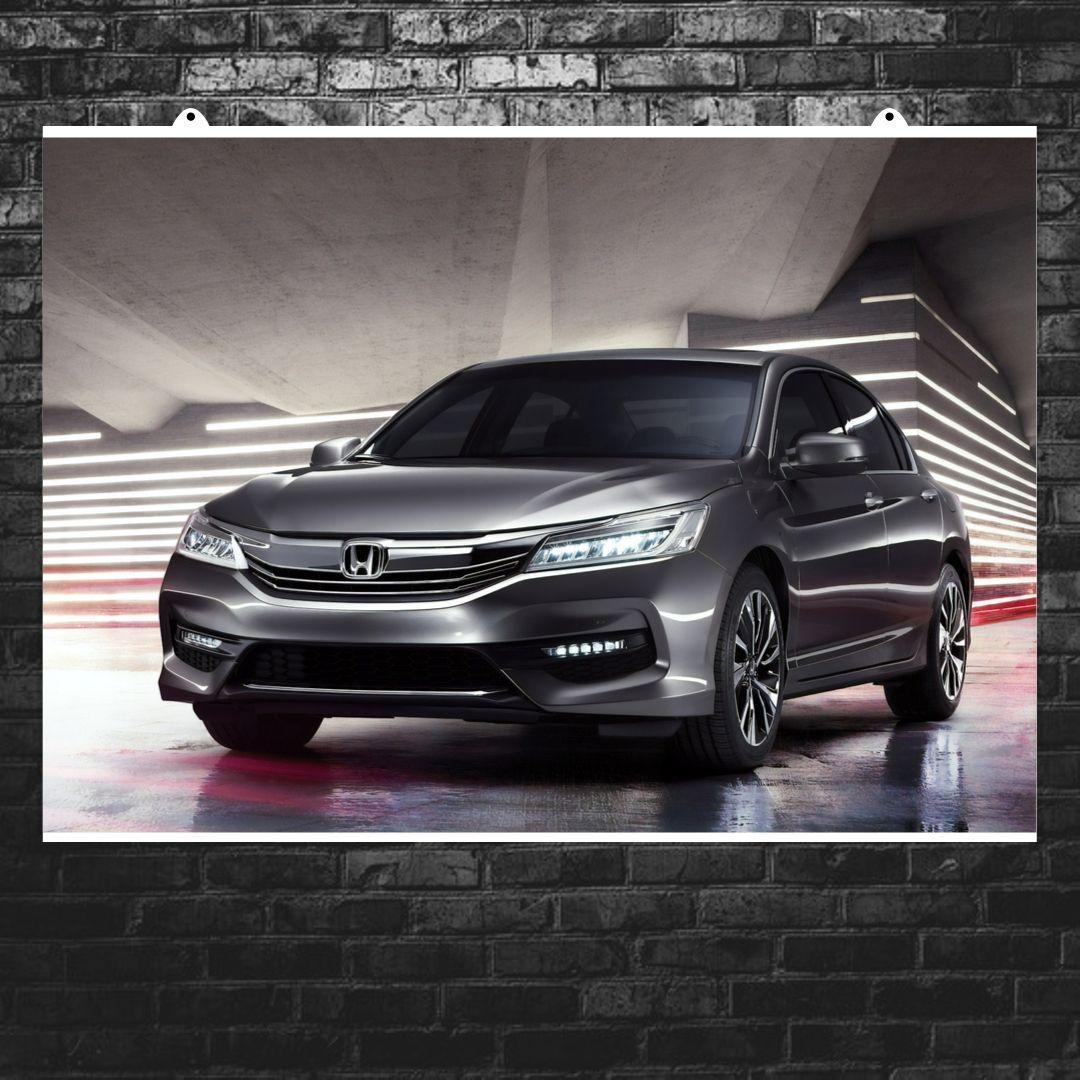 "Постер ""Honda Accord, Хонда Аккорд"". Размер 60x43см (A2). Глянцевая бумага"