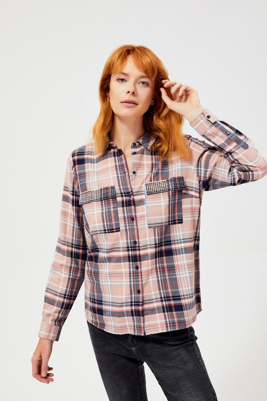 Рубашка с длинным рукавом женская MOODO Z-KO-3037 NAVY