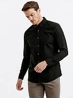 Черная мужская рубашка LC Waikiki / ЛС Вайкики с пуговицами на воротнике