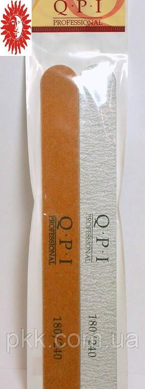 Пилочка для ногтей полировочная Q.P.I. Professional на мягкой основе 2 шт. гритт 180/240 QP