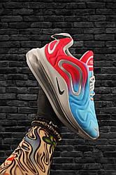 Женские кроссовки Nike  Air Max 720 (красно-белые)