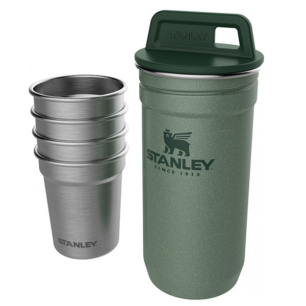 Подарочный набор Stanley Adventure Combo (фляга (0,59л) + 4 рюмки), зеленый