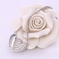 """Подвеска серебро с цепочкой """"Два сердца"""" (арт41882), фото 1"""