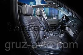 Накидки на сидения CarFashion FULL 3D  Мoдель: SECTOR бежевый,черный,черный (21900)