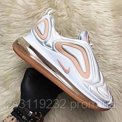 Женские кроссовки Nike  Air Max 720 White Peach (белые)
