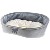 Лежанка с двухсторонней подушкой Laska 65 Grey Dogbed для кошек и собак, 65x49x22,5 см