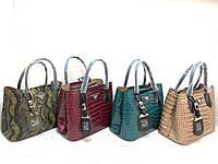 Женскаясумка кожаная PRADA в комплекте кошелек, жіноча сумка, фото 1