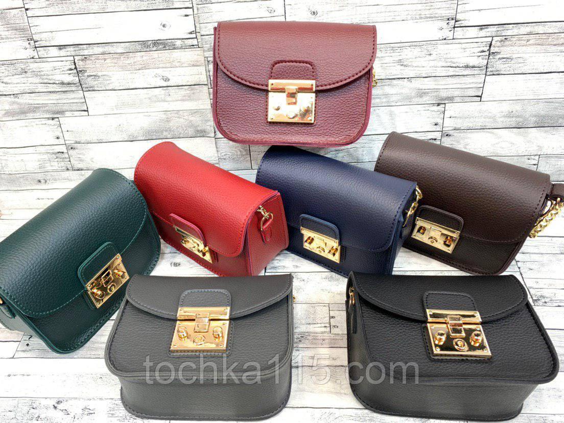 Женская кожаная сумка клатч, жіноча сумка