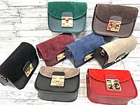 Женская кожаная сумка клатч, натуральная замша, жіноча сумка, фото 1