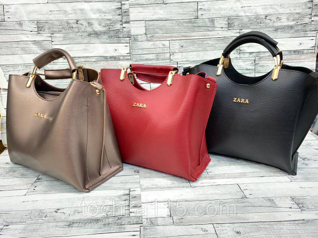 Женская кожаная сумка ZARA, жіноча сумка