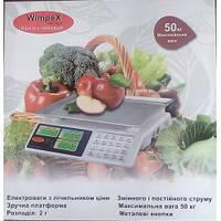 ВЕСЫ ТОРГОВЫЕ cо счетчиком цены WIMPEX 5002 WX 50 kg 6v