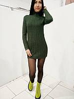 Женское короткое платье из мягкого трикотажа