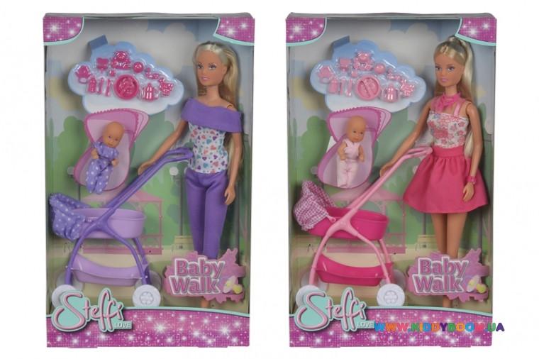Кукольный набор Штеффи и коляска с малышом Steffi & Evi 5733067