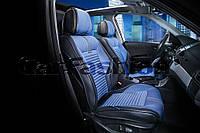 Накидки на сидения CarFashion FULL 3D  Мoдель: SECTOR черный, синий, черный   (21902)