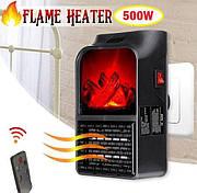 Портативный обогреватель с LCD дисплеем и имитацией камина с пультом FLAME HEATER 500W