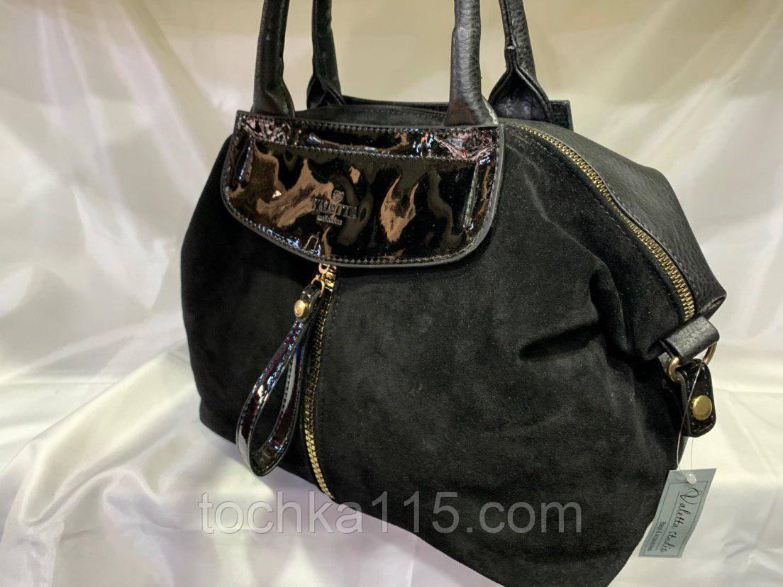 Женскаякожаная замшевая сумка, с золотой змейкой, жіноча сумка