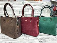 Женскаякожаная замшевая сумка Zara, жіноча сумка, фото 1