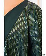 / Размер 50,52,54,56,58,60,62,64 / Женское невероятно стильное платье батал для вечеринки 214Б-Темно-Зеленый, фото 4