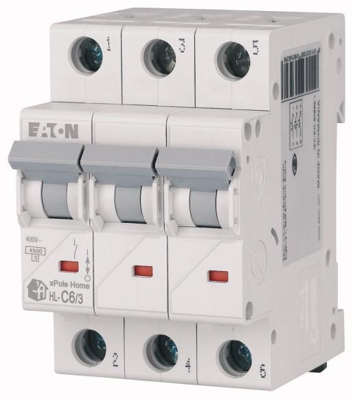 Автоматичний вимикач 6А HL-C6/3 194788 EATON (Moeller)